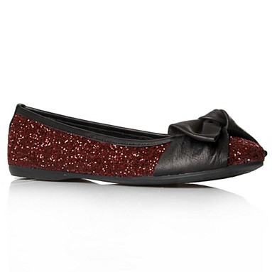 Red Lux Flat Shoes