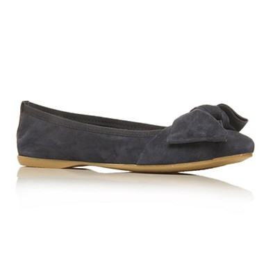 Blue Lux Flat Shoes
