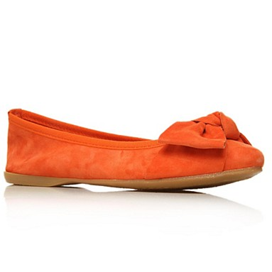 Orange Lux Flat Shoes