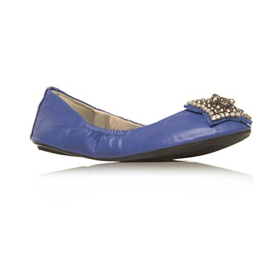 Blue Lucky Flat shoes