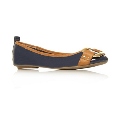Navy Lana Flat shoes