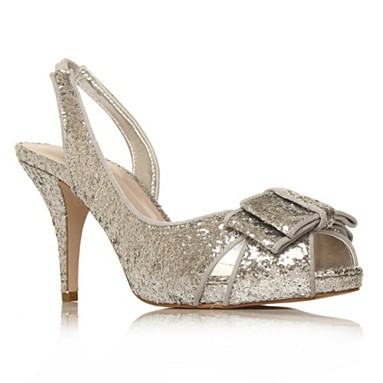 Silver Halston High Heel Shoes