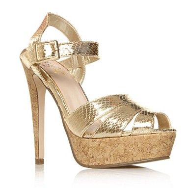 Gold Marilyn High Heel Shoes