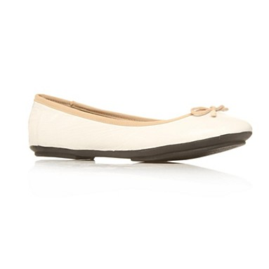 White Harriet Flat Shoes