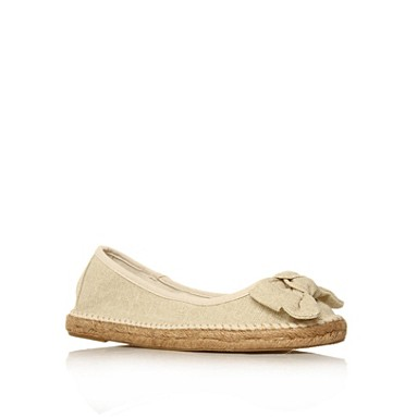 White Marty Flat Shoes