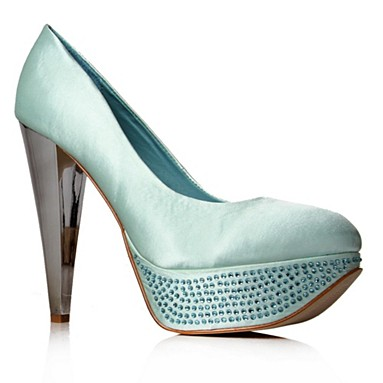 Green Tulisa High Heel Shoes