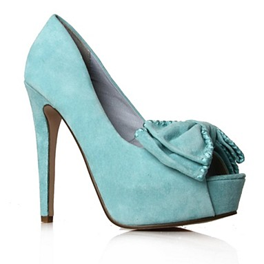 Blue Annalise High Heel Shoes
