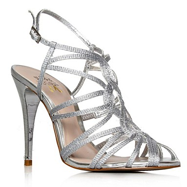 Silver Papparazi High Heel Shoes