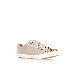 KG Kurt Geiger - Nude 'Lucca' flat lace up low top trainer
