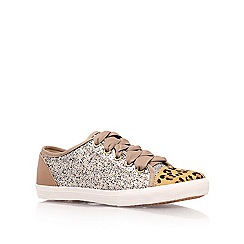 KG Kurt Geiger - Brown 'lucca' flat low top trainers