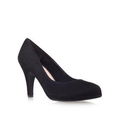 Carvela Black ´alas´ suede mid heel court shoes - . -