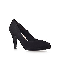 Carvela - Black 'alas' suede mid heel court shoes