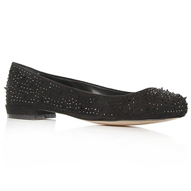 Black Lieutenant Flat Shoes