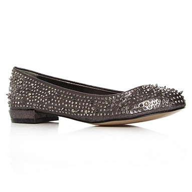 Metallic Lieutenant Flat Shoes