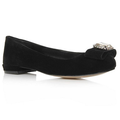 Black Lady Flat Shoes