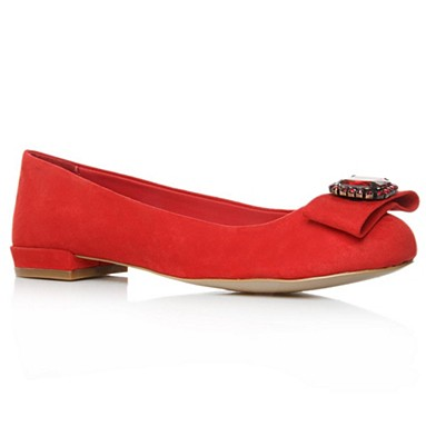 Red Lady Flat Shoes