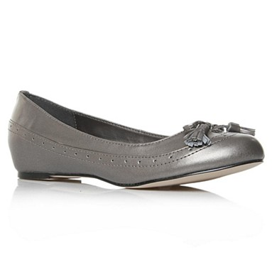 Metallic Alice Flat Shoes