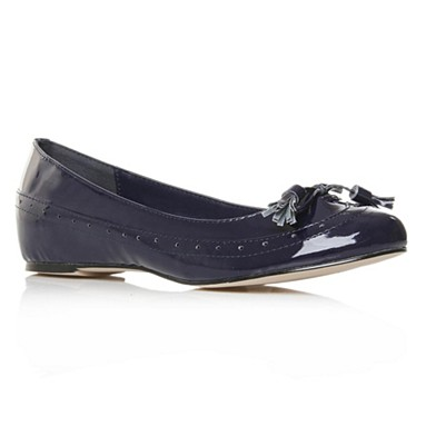 Navy Alice Flat Shoes