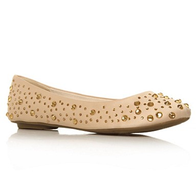Cream Hilly Flat Shoes