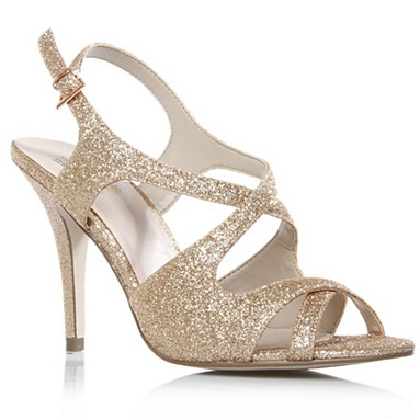 Gold Halle High Heel Shoes