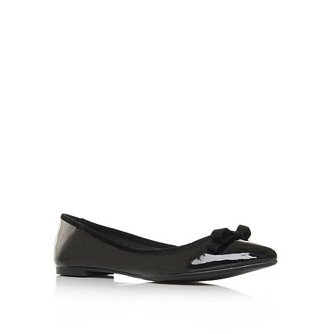 Miss KG - Miss KG Lotus black flat pointed ballerina shoes