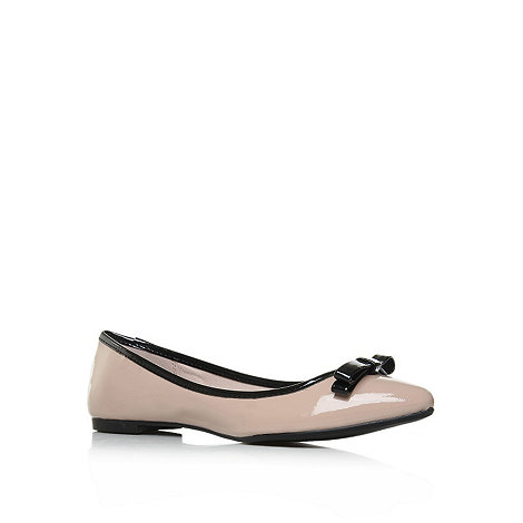 Miss KG - Miss KG Lotus nude flat pointed ballerina shoes