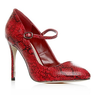Red Ace High Heel Shoes