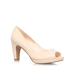 Nine West - Nude 'Shipshape' mid heel courts