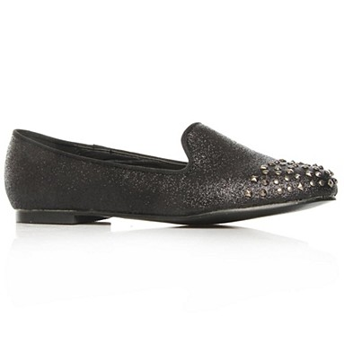 Black Leroy Flat Shoes