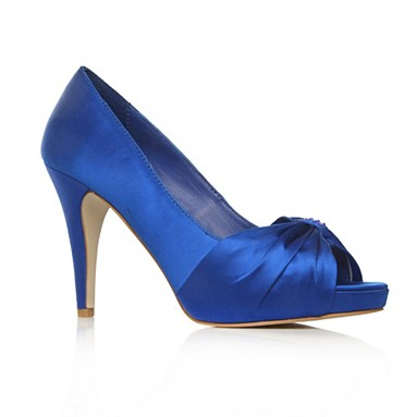 Blue Henrietta High Heel Shoes