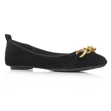 Black Laurie Flat Shoes