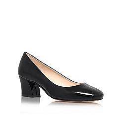 Nine West - Black 'Spotlight' mid heel courts