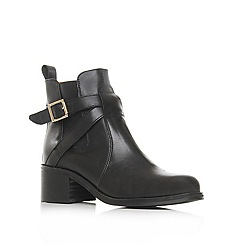Carvela - Black 'sadie' low heel leather ankle boots