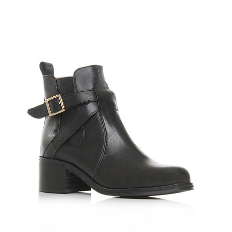 Carvela - Black +sadie+ low heel leather ankle boots