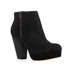KG Kurt Geiger - Black 'vera' high heel leather ankle boots