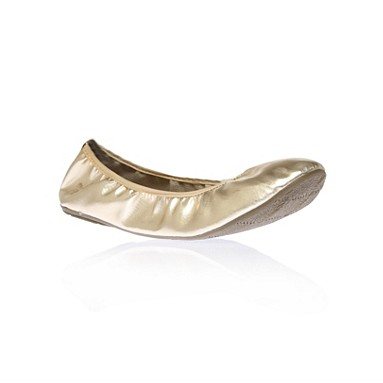 Misskg 'Lucifer' Gold Flat Shoes