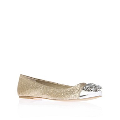 Luxe' by Miss KG ballerina style shoe with contrasting toe detai