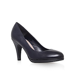 Carvela - Navy 'alas' high heel court shoes