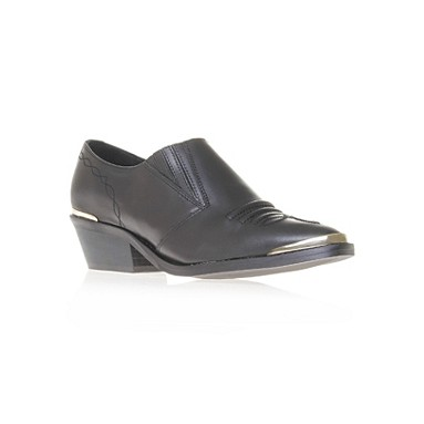 Carvela Kurt Geiger 'Shirt' block heeled slip on shoe with metal