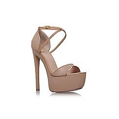 KG Kurt Geiger - Natural 'nanette' high heel platform sandals