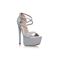 KG Kurt Geiger - Silver 'Nanette high heel sandals