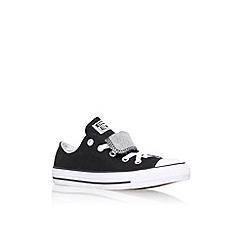 Converse - Black 'Ct dbl tongue' flat lace up sneaker