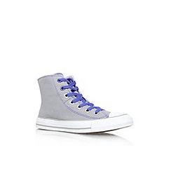 Converse - Blue 'Ct 2 fld hi' flat lace up hi top trainer