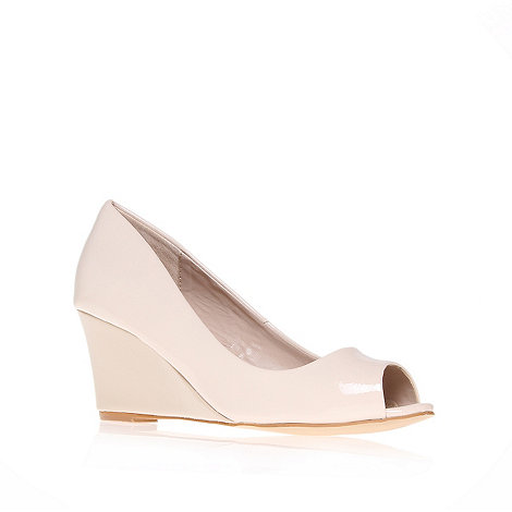 Carvela - Nude wedge peep toe shoe