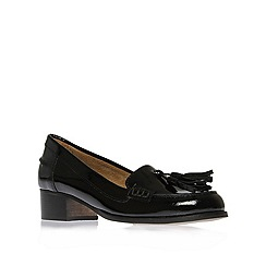 Carvela - Black 'lexie' flat patent tassel loafers