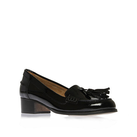 Carvela - Black +lexie+ flat patent tassel loafers
