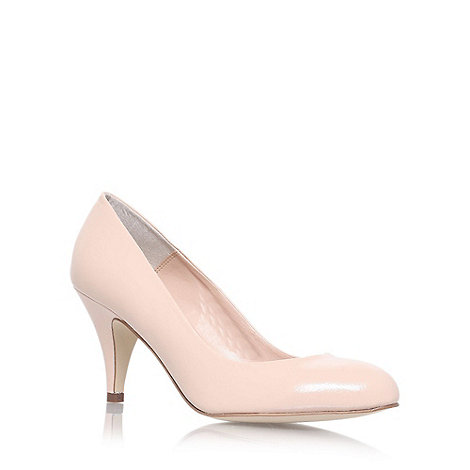 Carvela - Nude +Adam+ mid heel court shoes