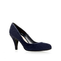 Carvela - Navy 'adam' mid heel court shoes