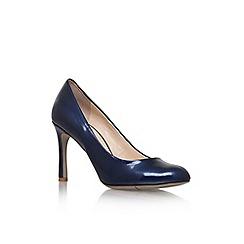 Nine West - Navy ' Drusilla3 ' mid heel court shoes