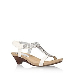 Anne Klein - White 'teale3' low heel sandals